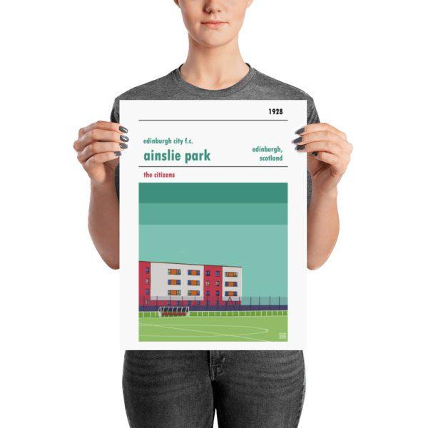 A medium sized Edinburgh City FC football poster