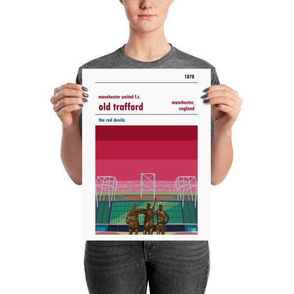 A medium sized Man United football poster