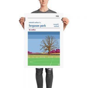 A Whitehill Welfare FC vintage football poster of Ferguson Park