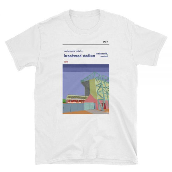Cumbernauld Colts FC white t-shirt of Broadwood