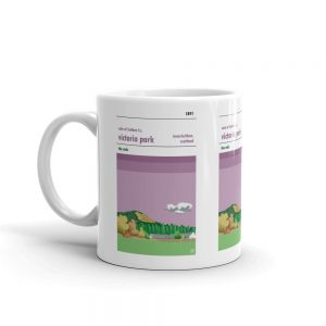 A Victoria Park and Vale of Leithen FC coffee mug