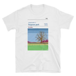 A white t shirt of Whitehill Welfare fc and Ferguson Park