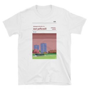 An Edinburgh University white t shirt of East Peffermill
