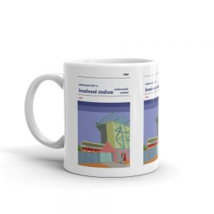 Coffee cup of Broadwood Stadium and Cumbernauld Colts FC