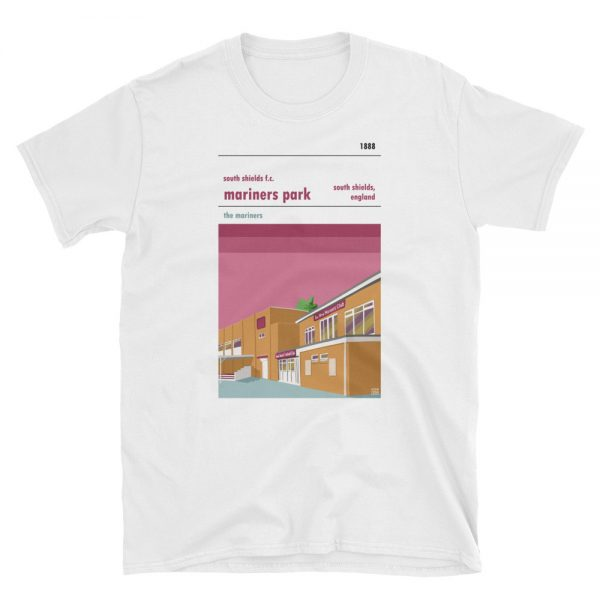 A t-shirt of Mariners Park, home to South Shields FC