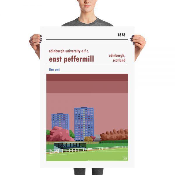 A large Edinburgh Uni FC football stadium poster