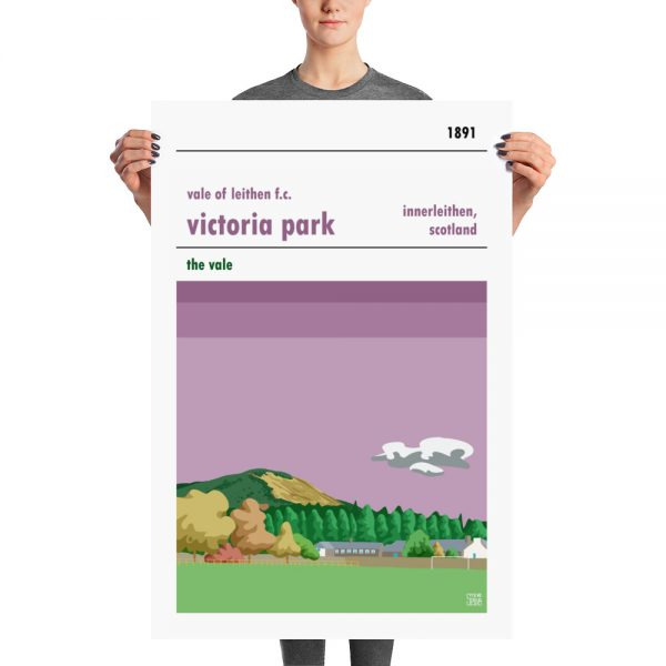 A large Victoria Park, Vale of Leithen FC football stadium poster