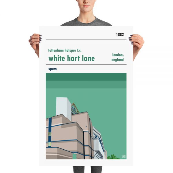 Huge football poster of White Hart Lane and Tottenham Hotspur FC