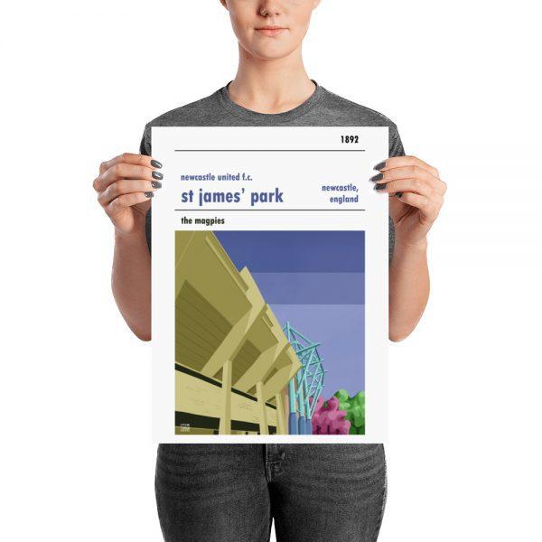 A medium sized stadium poster of Newcastle Utd and St James' Park