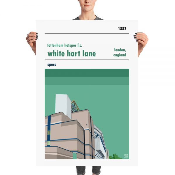Massive football poster of White Hart Lane and Tottenham Hotspur FC