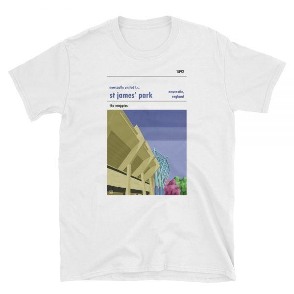 A tshirt of St James Park, Leazes Terrace, home of Newcastle United