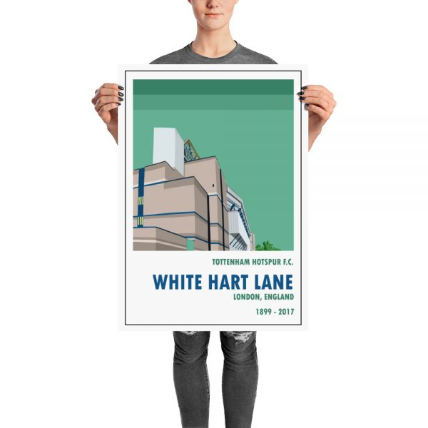 A retro look Old White Hart Lane and Spurs stadium poster by Steve Stewart