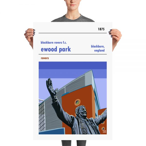 A large football poster of Ewood Park and Jack Walker.