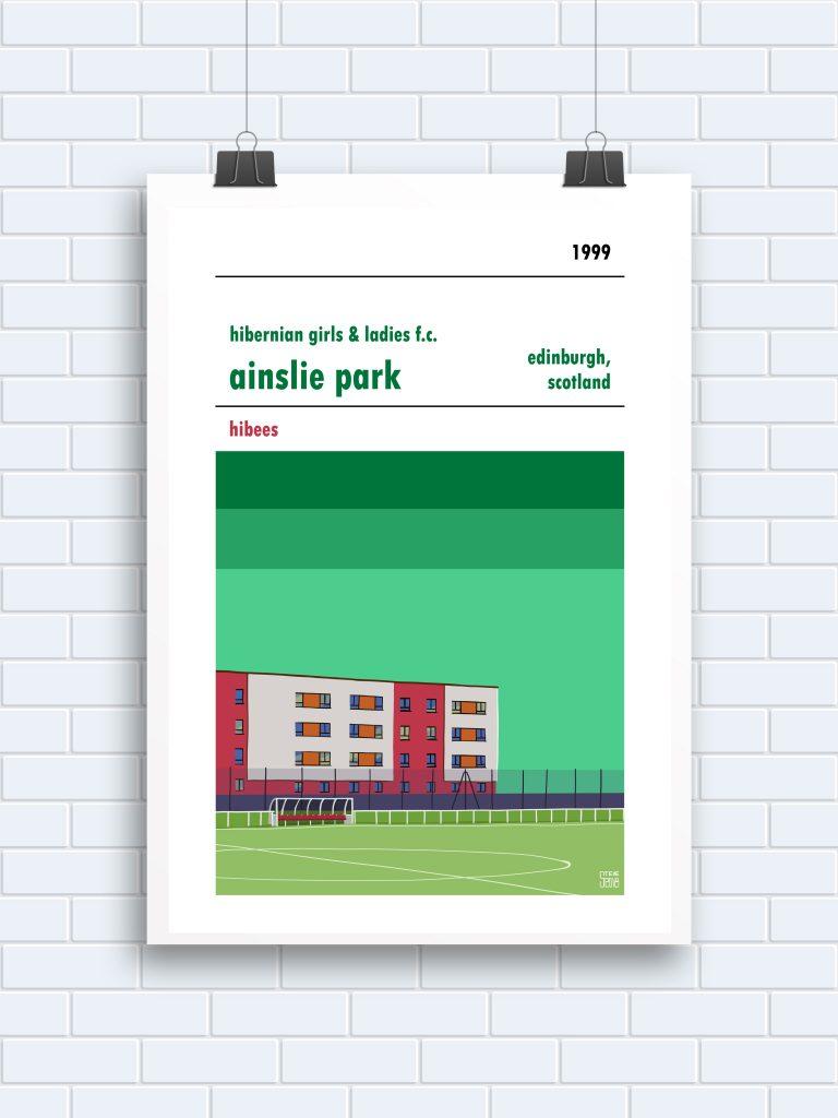 Hibernian LFC Ainslie Park print