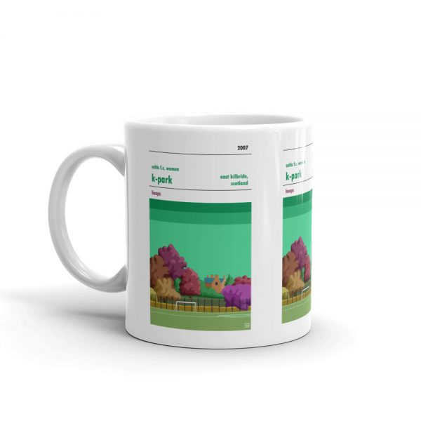 Coffee mug of k-Park and Celtic FC women.