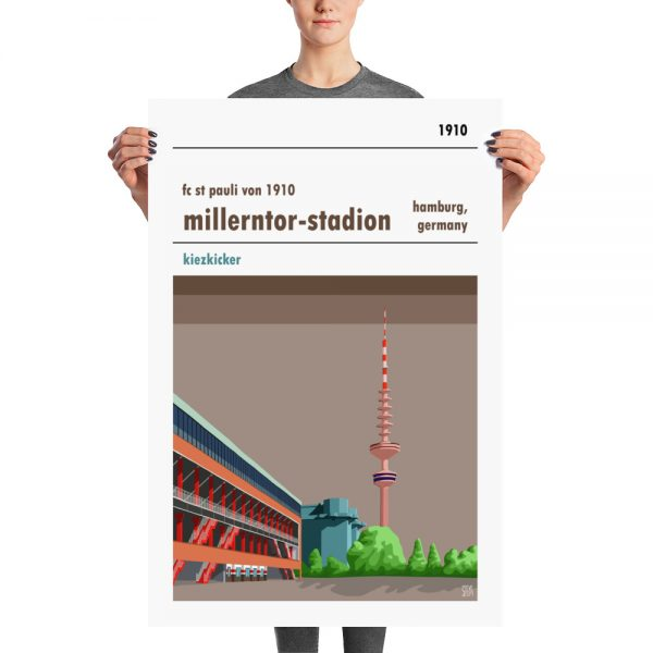 Massive football stadium poster of Millerntor Stadion and FC St Pauli