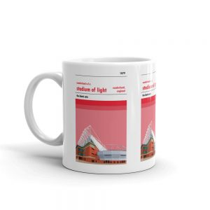 A coffee mug of the Stadium of Light and Sunderland AFC
