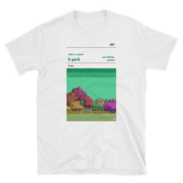 A white t shirt of K-Park, East Kilbride, Celtic FC Women
