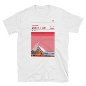 A t shirt of the Stadium of Light, home of Sunderland AFC