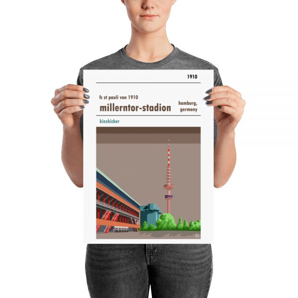 Medium football stadium poster of Millerntor Stadion and FC St Pauli