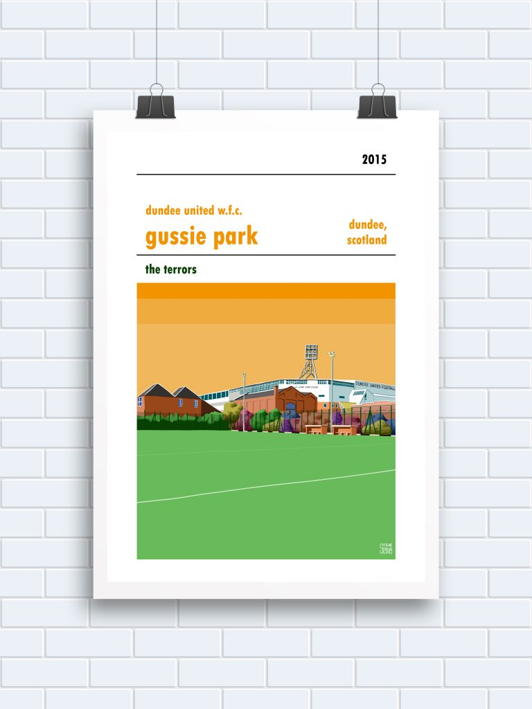 Gussie Park Dundee United Print