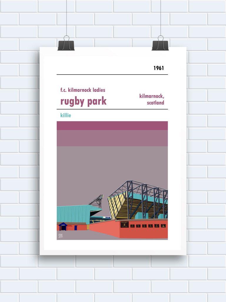 Rugby Park FC Kilmarnock Ladies Print