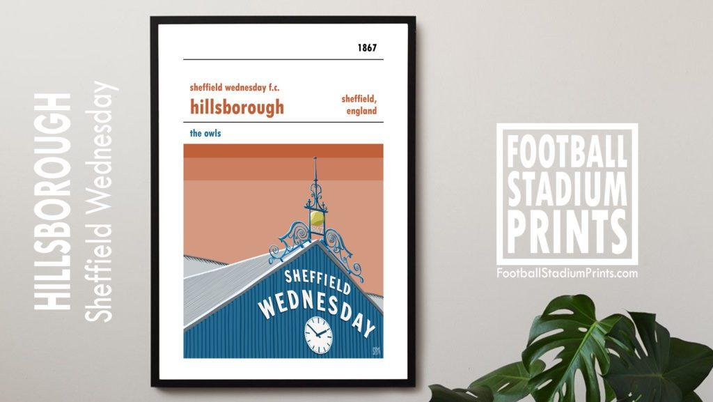 Hillsborough & Sheffield Wednesday print