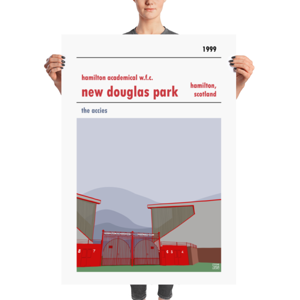 A Huge football poster of Hamilton Accies WFC and New Douglas poster