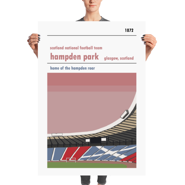 A huge football print of Hamden Park, Scotland FA