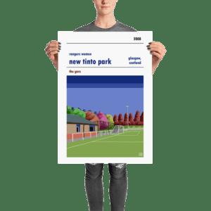 A New Tinto Park Rangers Women FC football poster