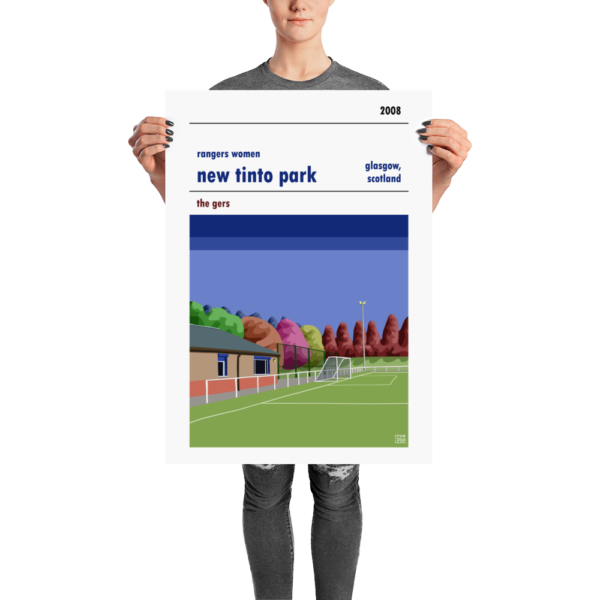 A New Tinto Park Rangers Women FC football poster