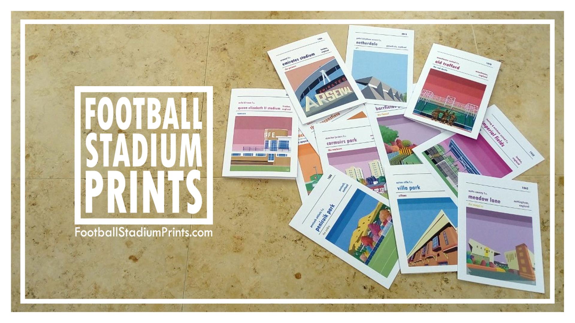 Football Stadium Prints Greetings Cards