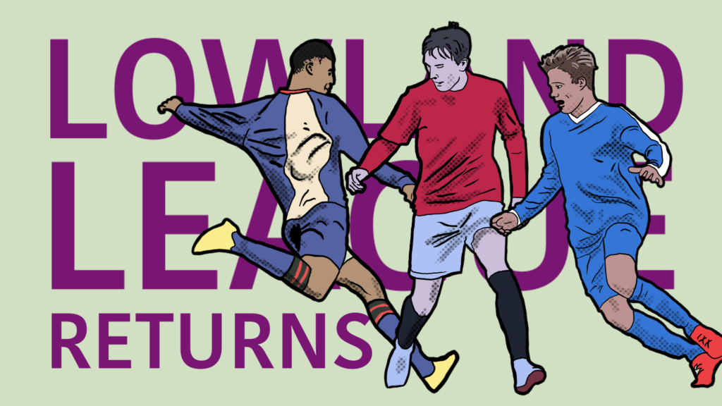 The affordable league returns to footballing action on football stadium prints