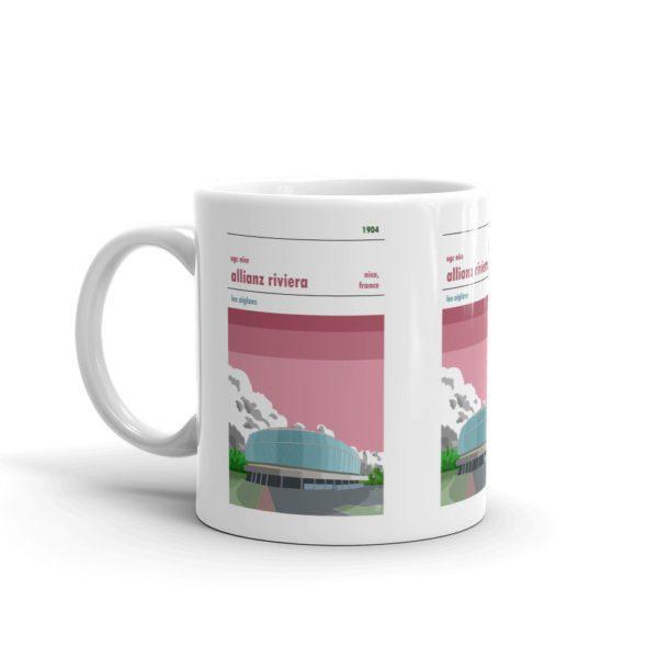 A coffee mug of Stade de Nice, Allianz Riviera, home to OGC Nice