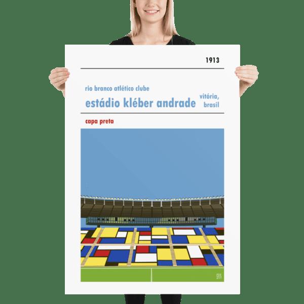 Massive football poster of Estadio Kleber Andrade
