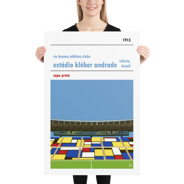 Huge football poster of Estadio Kleber Andrade