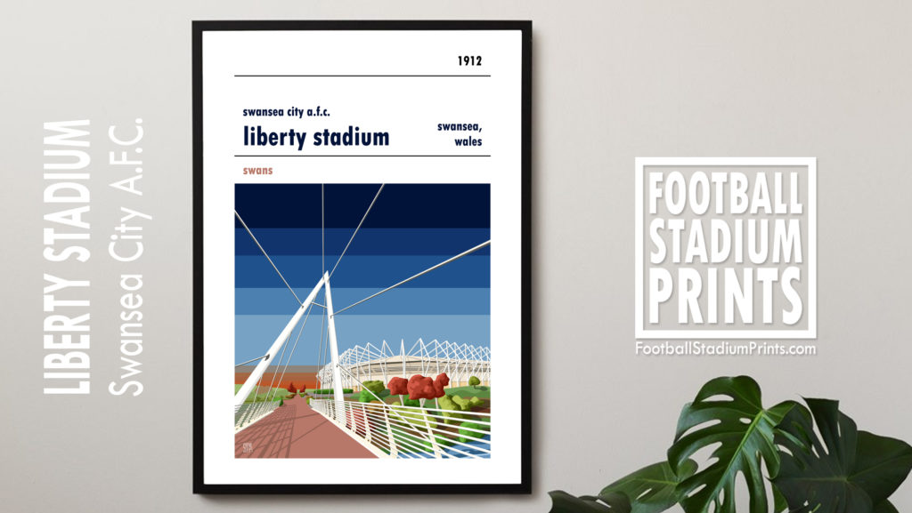 Swansea City Football Poster