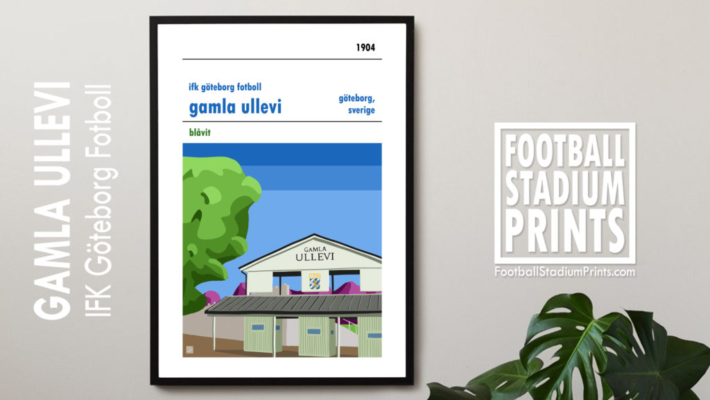 IFK Göteborg and Gamla Ullevi framed poster