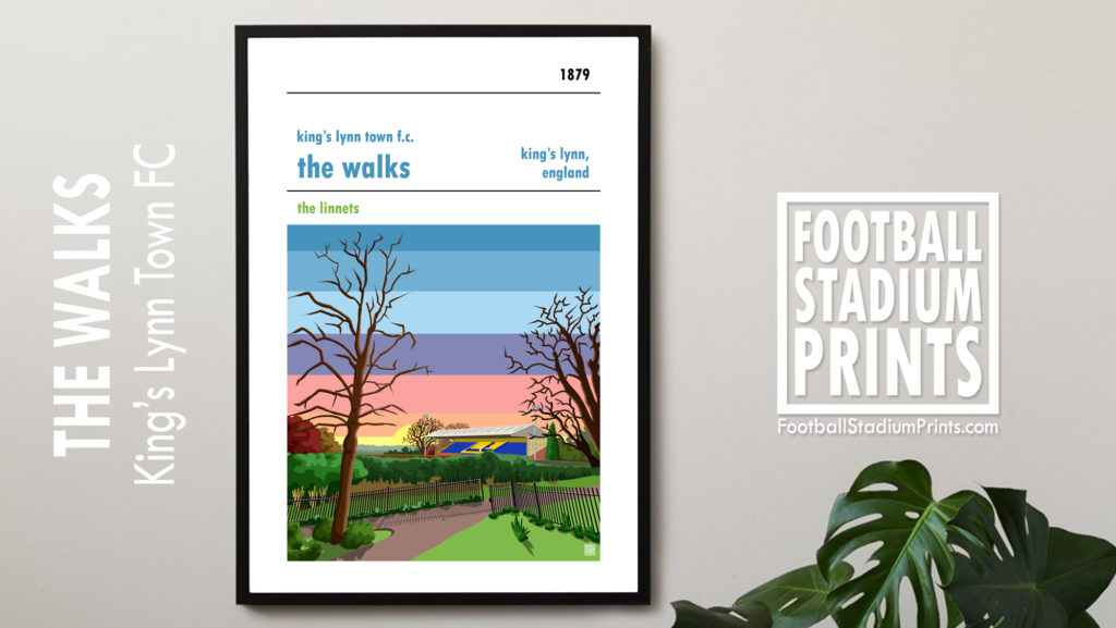 Framed King's Lynn Town FC print