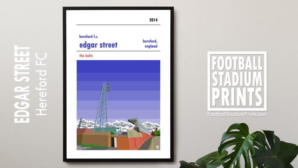 Hanging Hereford FC framed print