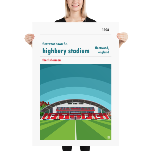Massive football poster of Fleetwood Town FC and Highbury