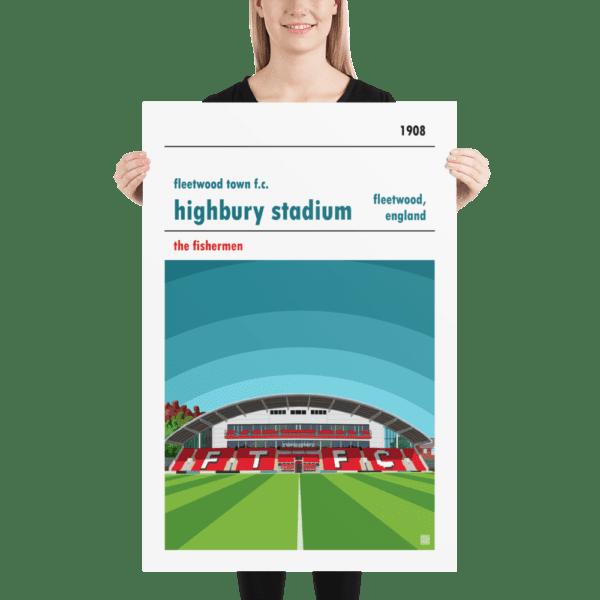 Huge football poster of Fleetwood Town FC and Highbury