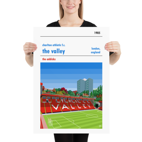 Large football poster of Charlton FC and the Valley