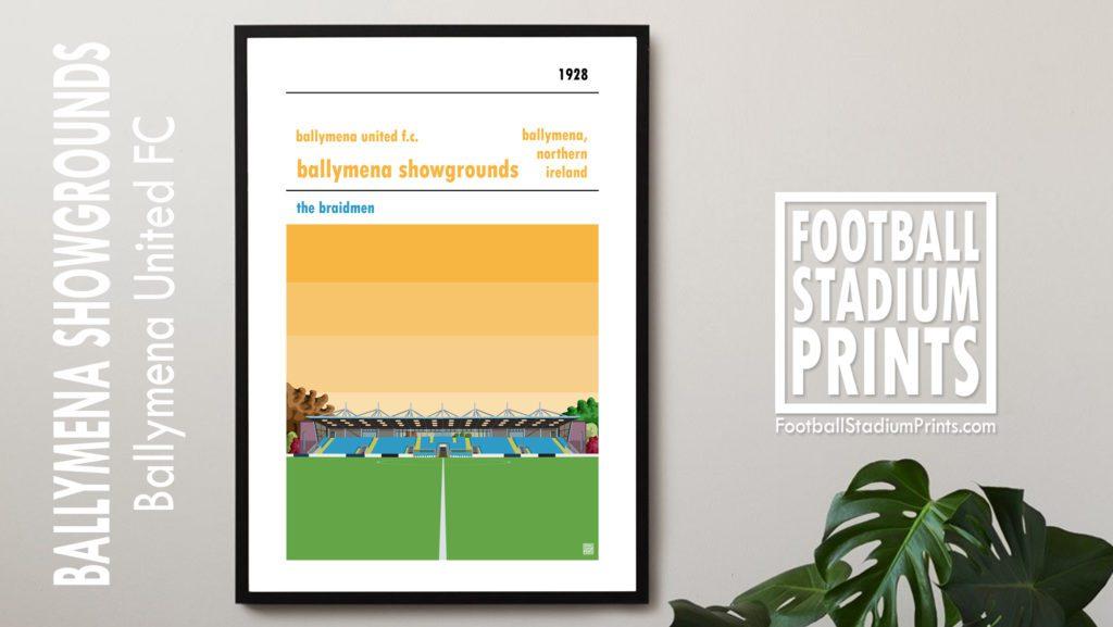 Hanging framed print of Ballymena United FC