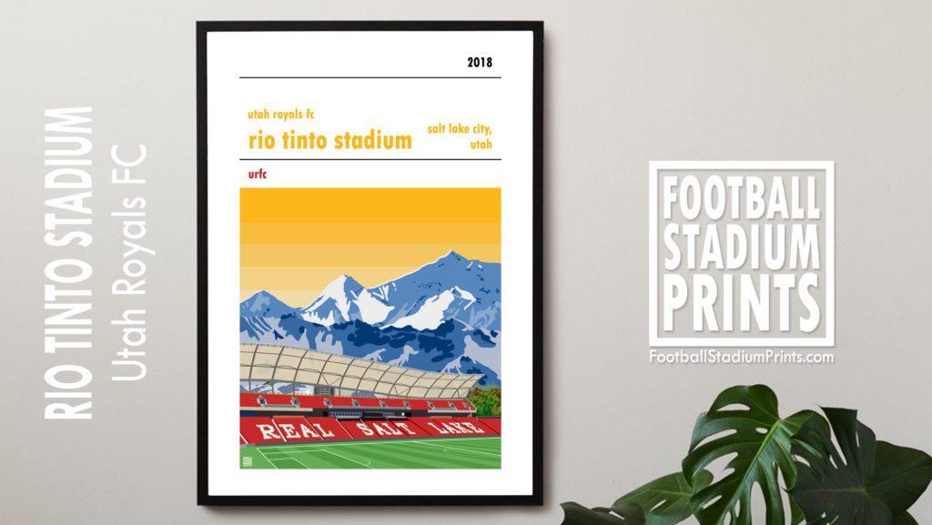 Framed hanging print of Utah Royals FC