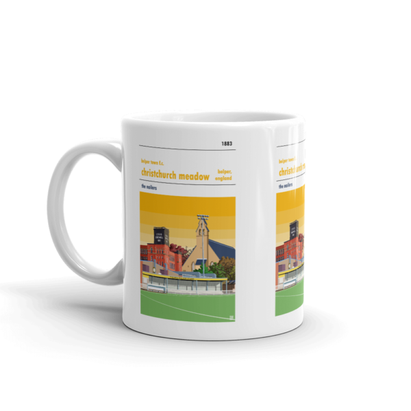 Yellow Sky Belper Town and Christchurch Meadows Mug