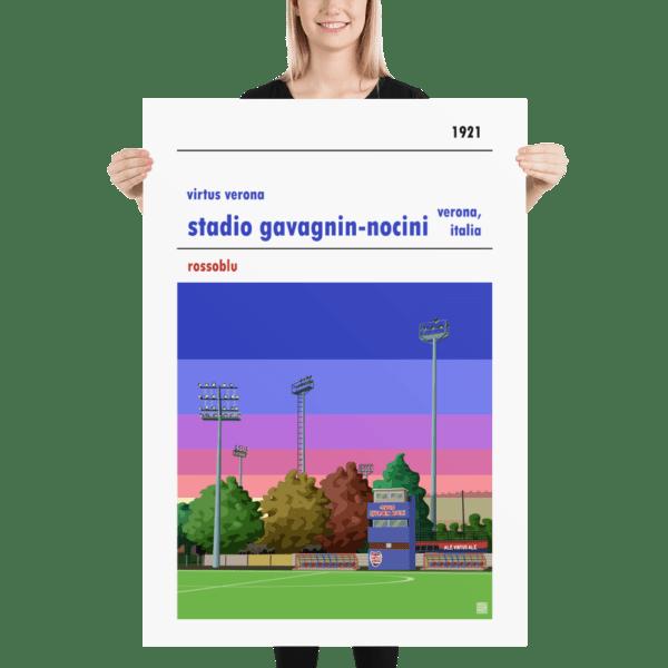 Massive football poster of Virtus Verona and Stadio Gavagnin Nocini