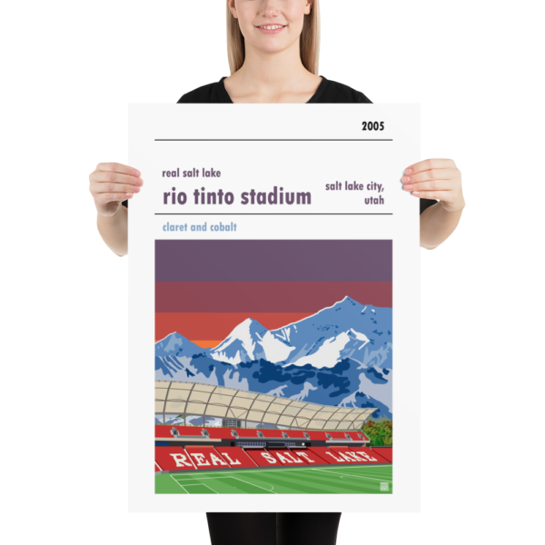 Large football poster of Real Salt Lake and Rio Tinto Stadium