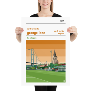 Large football print of North Ferriby FC and Grange Lane