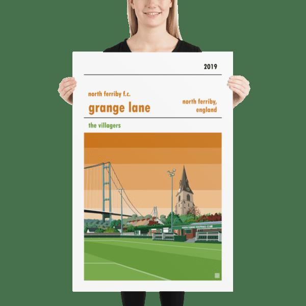 Huge football print of North Ferriby FC and Grange Lane